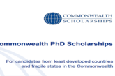 Commonwealth PhD Scholarships 2020 (for least developed countries and fragile states) to Study in the UK (Fully Funded): (Deadline 30 October 2019)