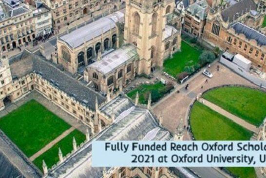 Fully Funded Oxford Scholarships 2021 in the UK: (Deadline15 October 2020)