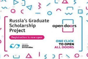 Open Doors: Russian Scholarship Project 2020/2021 for International Master's & PhD Students: (Deadline 10 December 2020)