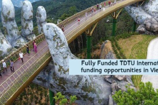 Fully Funded International funding in Vietnam: (Deadline 15 November 2020)