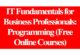 IT Fundamentals for Business Professionals: Programming (Free Online Courses): (Deadline Ongoing)