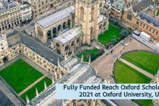 Fully Funded Oxford Scholarships 2021 in the UK: (Deadline	15 October 2020)