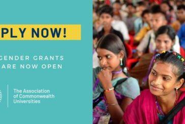 Association of Commonwealth Universities (ACU) Gender Grants 2020: (Deadline 20 September 2020)