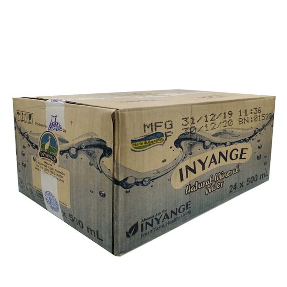 Inyange Water 500ml Quantity: 1 carton for 24Pc, Price: 5500Rwf, Delivery Fees: 1000 Rwf