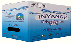 Inyange Water 1L 6pc Quantity: 1 carton for 6Pc, Price: 2700 Rwf, Delivery Fees: 1000 Rwf