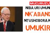 Ntushobora kuba umukire, uri umuntu utekereza gutya!