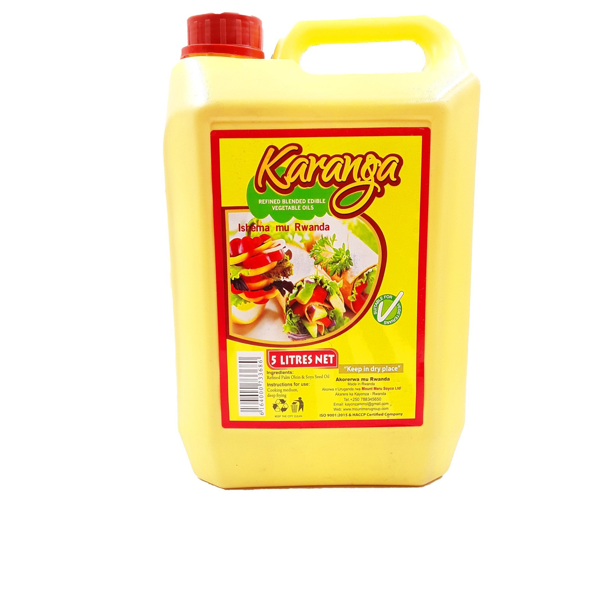 Karanga Oil/ 5 L, Price: 7500 Rwf, Delivery Fees: 1000 Rwf