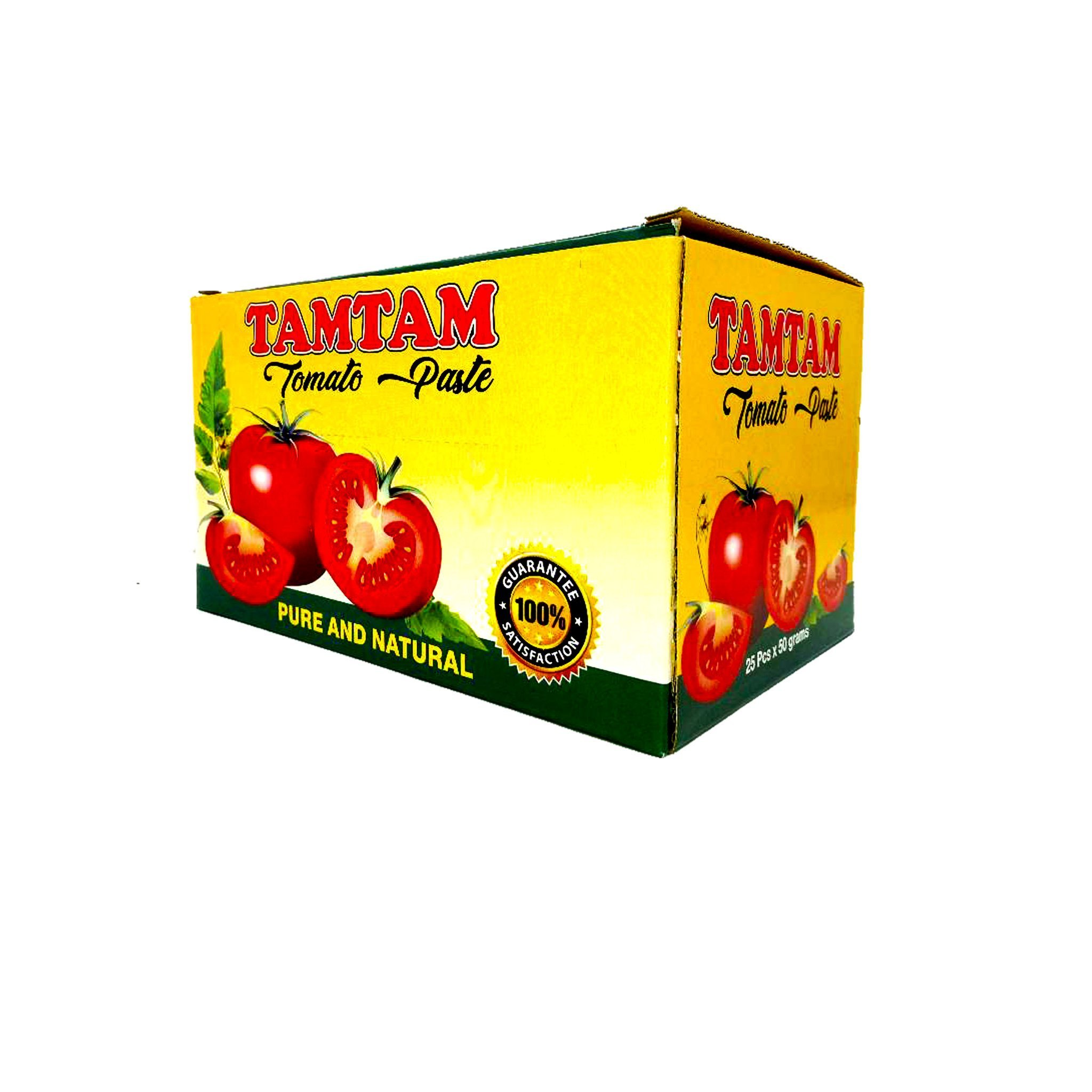 Tam Tam Tomato Paste /25pcs x 50 grams Price: 3500 Rwf Delivery Fees: 1000 Rwf
