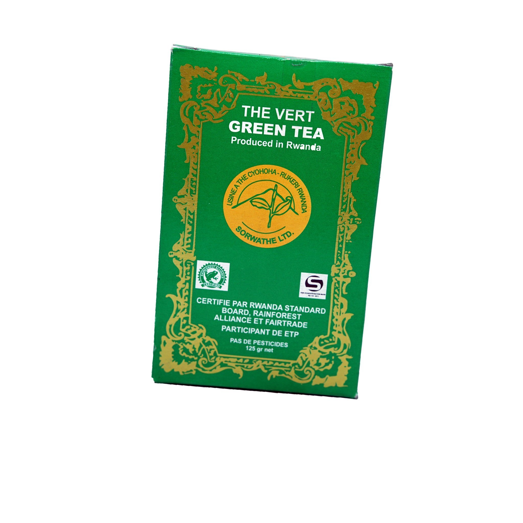 The Vert/ Green Tea 125 gr Price: 2500 Rwf Delivery Fees: 1000 Rwf