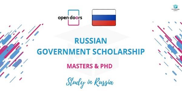 Open Doors Russian Government Scholarship 2020/21: (Deadline 10 December 2020)