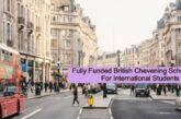 Fully Funded British Chevening Scholarships: (Deadline 3 November 2020)