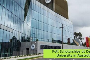 Full Scholarships at Deakin University in Australia: (Deadline 11 January 2021)