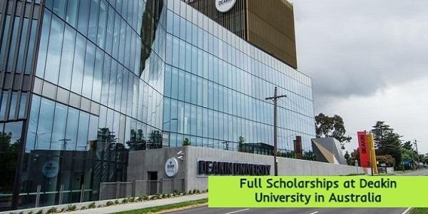 Full Scholarships at Deakin University in Australia: (Deadline 11 January 2021)