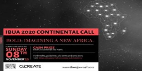 IBUA 2020 Continental Call for African Writers (Cash prizes available): (Deadline  8 November 2020)