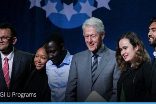 Clinton Global Initiative University Program 2021 for Higher Education Student Leaders: (Deadline 15 January 2021)