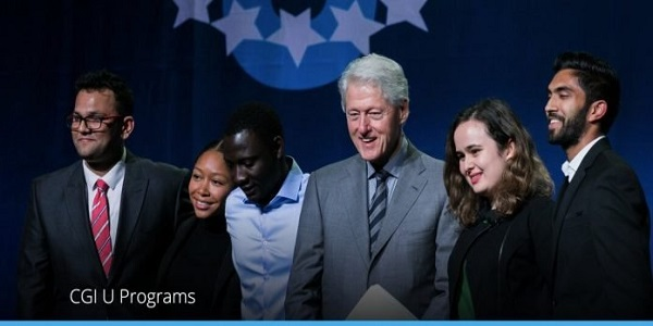 Clinton Global Initiative University Program 2021 for Higher Education Student Leaders: (Deadline 15 January 2021)