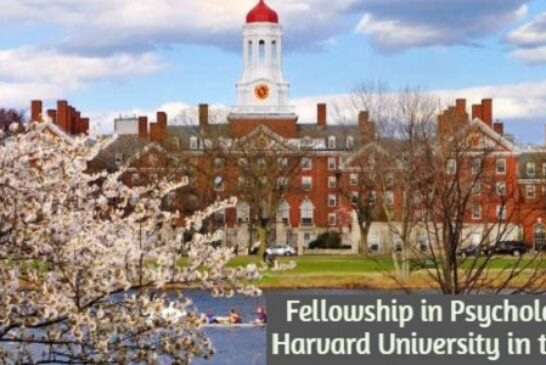 Fellowship in Psychology at Harvard University in the United States: (Deadline 30 November 2020)