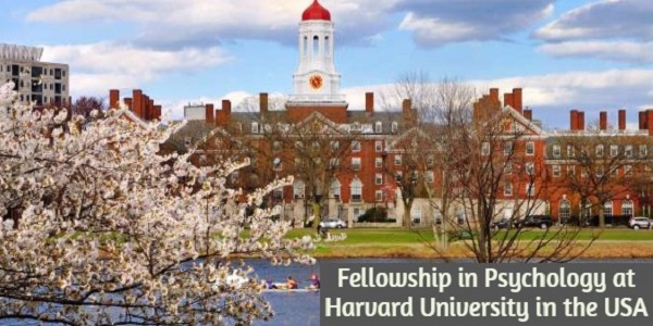 Fellowship in Psychology at Harvard University in the United States: (Deadline 30 November 2020)