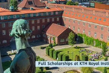Full Scholarships at KTH Royal Institute: (Deadline15 January 2021)