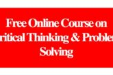 Free Online Course on Critical Thinking & Problem Solving: (DeadlineOngoing)