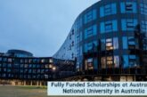 Fully Funded Scholarships at Australian National University in Australia: (Deadline 31 October 2020)