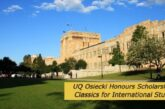 International Scholarships at the University of Queensland: (Deadline	Ongoing)