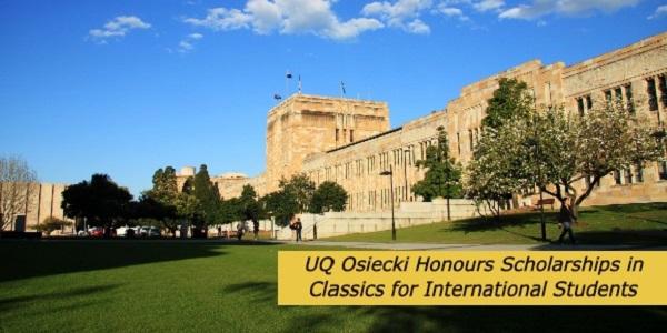International Scholarships at the University of Queensland: (DeadlineOngoing)
