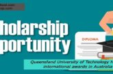 Queensland University of Technology Honors international awards in Australia: (Deadline 31 January 2021)