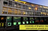 University of Brighton international awards UK: (Deadline 15 January 2021)