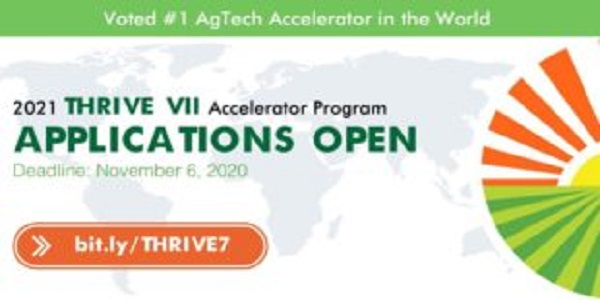 THRIVE VII Accelerator Program 2021 for Seed-stage Startups: (Deadline 6 November 2020 (Australia) / November 20, 2020 (Africa & Canada)