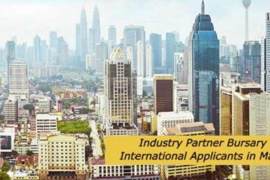 Industry Partner Bursary for International Applicants in Malaysia: (Deadline	Ongoing)