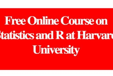 Free Online Course on Statistics and R at Harvard University: (Deadline ongoing)