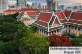 Chulalongkorn University's Scholarship Program 2020: (Deadline	15 October 2020)