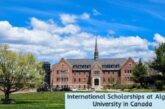 International Scholarships at Algoma University: (Deadline 15 November 2020)