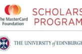 University of Edinburgh Mastercard Foundation Scholars Program 2021/2022 for study in Scotland (Fully Funded): (Deadline 30 October  2020)