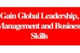 Gain Global Leadership, Management and Business Skills: (Deadline Ongoing)