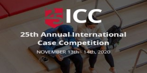 Tepper School of Business 25th Annual International Case Competition (ICC) 2020: (Deadline 1 November 2020)