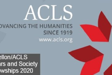 Mellon/ACLS Scholars and Society Fellowships 2020: (Deadline 28 October 2020)