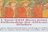 Tatti/DHI Rom Joint Fellowship 2021/2022 for African Studies (Funded Residency in Rome,Italy): (Deadline 16 November 2020)