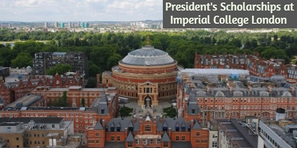 President's Scholarships at Imperial College London: (Deadline 19 March 2021)