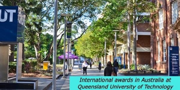 International awards in Australia at Queensland University of Technology: (Deadline28 February 2021)