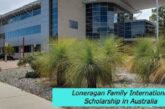 Loneragan Family International Scholarship in Australia: (Deadline 8 March 2021)
