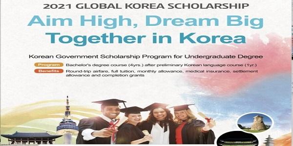 Korean Government Scholarship Program 2021 for Undergraduate study in South Korea (Fully Funded): (Deadline Ongoing)