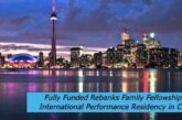 Fully Funded Rebanks Family Fellowship and International Performance Residency in Canada: (Deadline 1 February 2021)