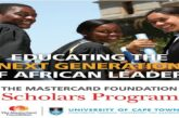 University of Cape Town MasterCard Foundation Scholars Program 2020/2021 for study in South Africa (Fully Funded): (Deadline 30 September 2020)