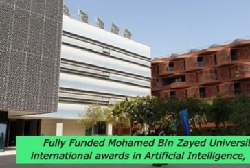Fully Funded Mohamed Bin Zayed University international awards in Artificial Intelligence, UAE: (Deadline 15 April 2021)