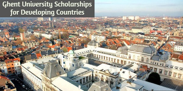 Ghent University Scholarships for Candidates from Developing Countries: (Deadline 4 February 2021)