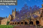 Postgraduate Research Scholarship at University of Sydney: (Deadline	30 April 2021)