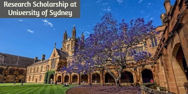 Postgraduate Research Scholarship at University of Sydney: (Deadline30 April 2021)