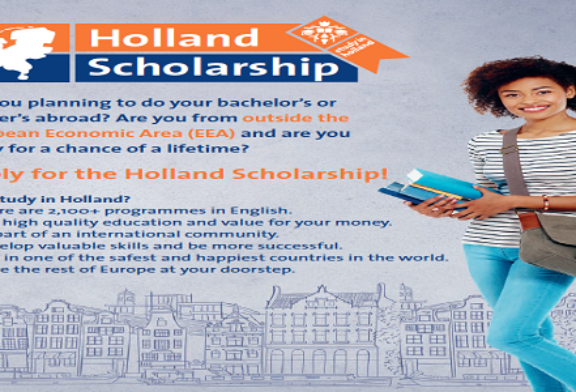 Holland Scholarships 2020/2021 for Bachelor's or Masters Study in the Netherlands (5,000 Euros): (Deadline 1 May 2020)